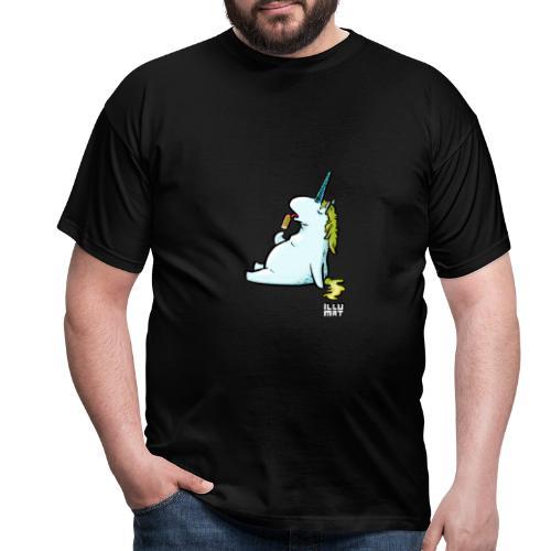 STE 0006 00 Eis Einhorn - Männer T-Shirt