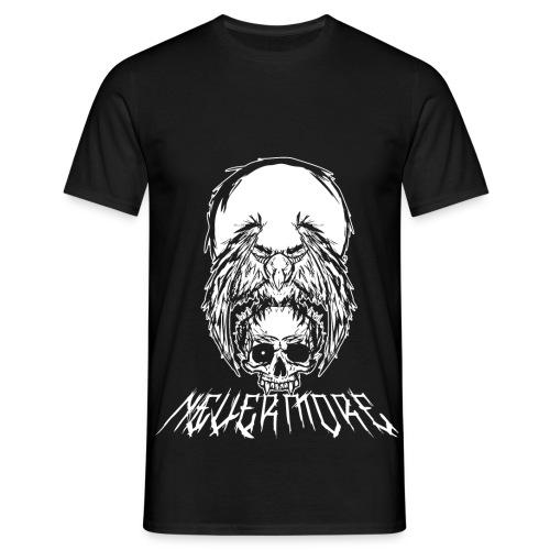 nevermore edgar poe koszulka czaszka kruk png - Koszulka męska