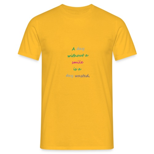 Say in English with effect - Men's T-Shirt