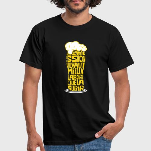 Bière ou Pression citation - T-shirt Homme