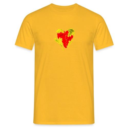 peeled heart (I saw) - Men's T-Shirt