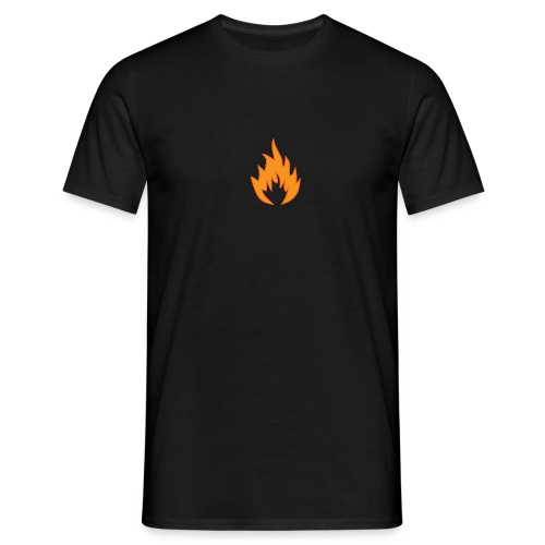 Flame BLACK - T-shirt Homme