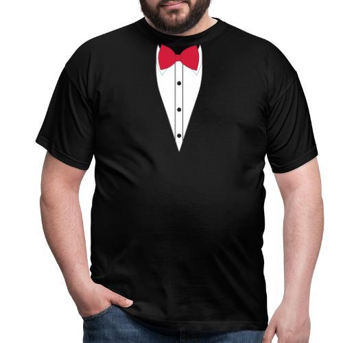 Anzug mit Fliege - Männer T-Shirt