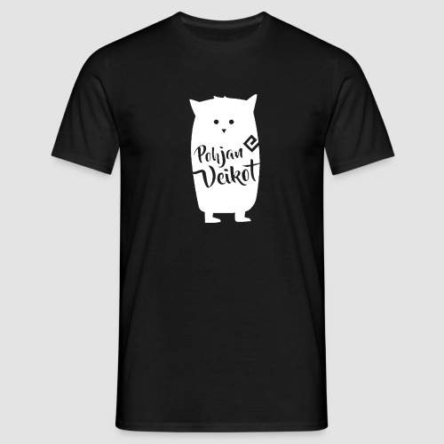 Veikko-pöllö valkoinen - Miesten t-paita