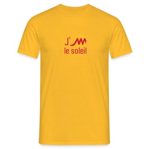 jMsoleilrougejaune - T-shirt Homme