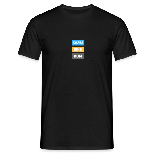 Triathlon Apparel: Swim Bike Run - Men's T-Shirt
