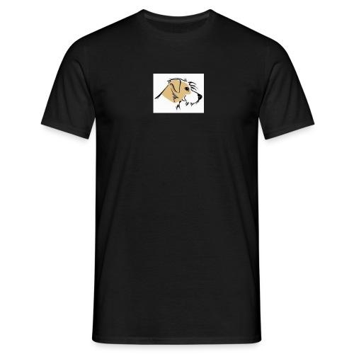 hundekopfausschnittg3 - Männer T-Shirt