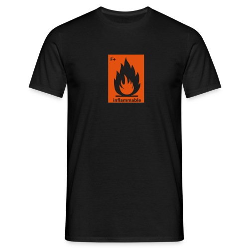 inflamable print - Men's T-Shirt