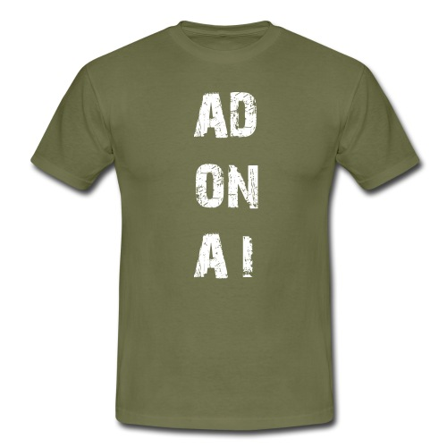 AD ON AI - Männer T-Shirt