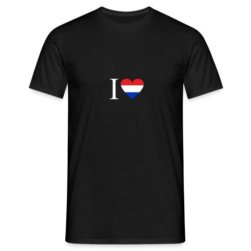 Ik hou van Nederland | Hart met rood wit blauw - Mannen T-shirt