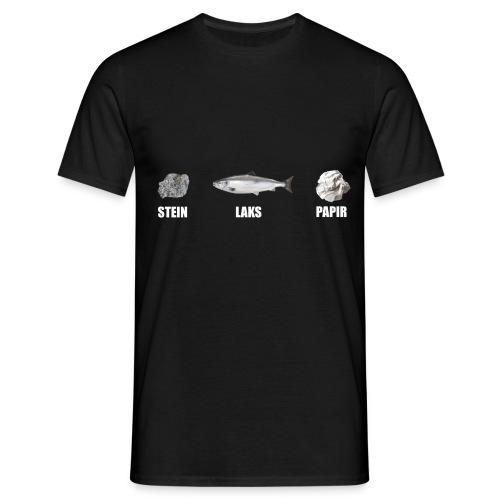 steinlakspapir png - T-skjorte for menn