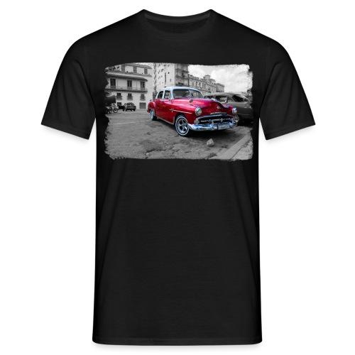 macchina rossa lucida - Maglietta da uomo