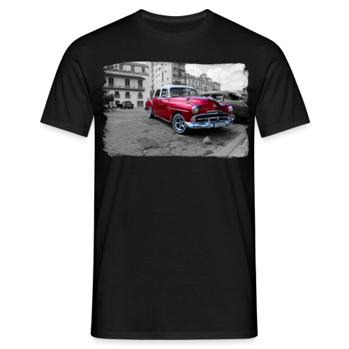 shiny red car - Männer T-Shirt