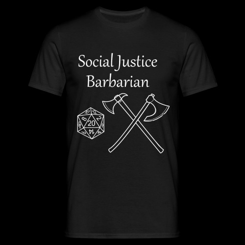 Social Justice Barbarian - Men's T-Shirt