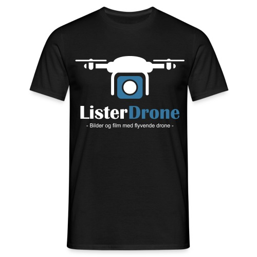 ListerDrone logo - T-skjorte for menn