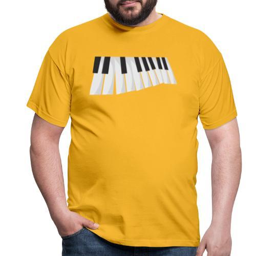 Une certaine perspective du piano en noir et blanc - T-shirt Homme