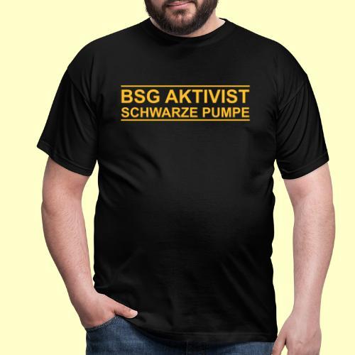 BSG Aktivist Schwarze Pumpe - Retro-Schriftzug - Männer T-Shirt