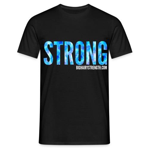 STRONG Blue Tye Dye - Black Tee - Men's T-Shirt