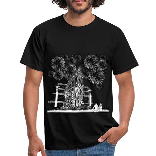 stage with fireworks and love - Mannen T-shirt