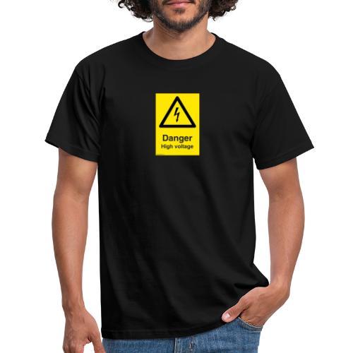danger High Voltage - T-skjorte for menn