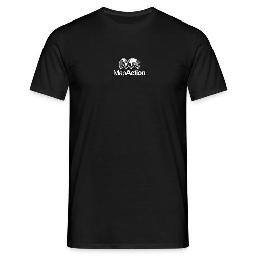 MapAction White on Tranparent - Men's T-Shirt