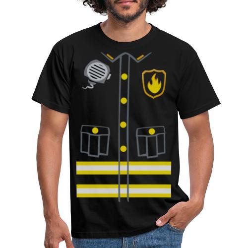 Kids Fireman Costume - Dark edition - Men's T-Shirt