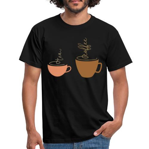 0254 Tea or coffee? That is the question! - Men's T-Shirt