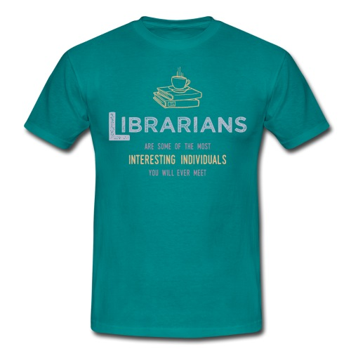 0336 Librarian & Librarian Funny saying - Men's T-Shirt