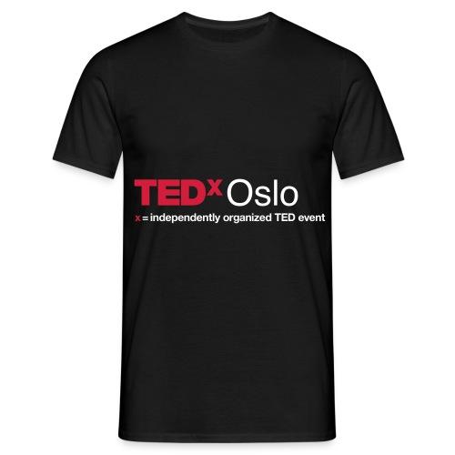 TEDxOslo slogan negativ - T-skjorte for menn