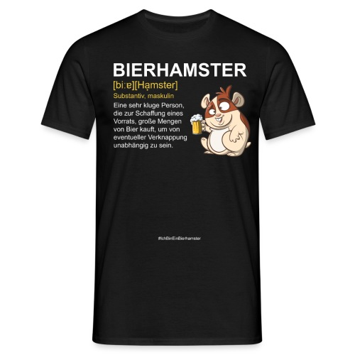 Bierhamster Bier Hamsterkauf Duden Definition Fun - Männer T-Shirt