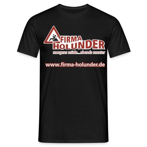 logo komplett webadresse - Männer T-Shirt