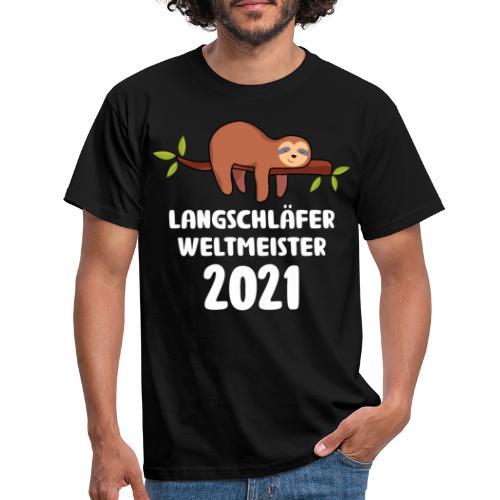 Faultier Spruch Schlafen Schlafshirt Geschenk - Männer T-Shirt