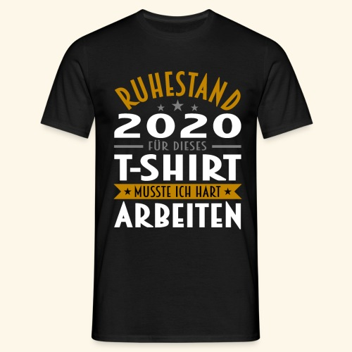 Ruhestand 2020 - Männer T-Shirt