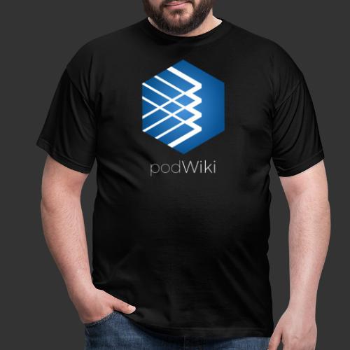 podWiki logo texte 1 png - T-shirt Homme