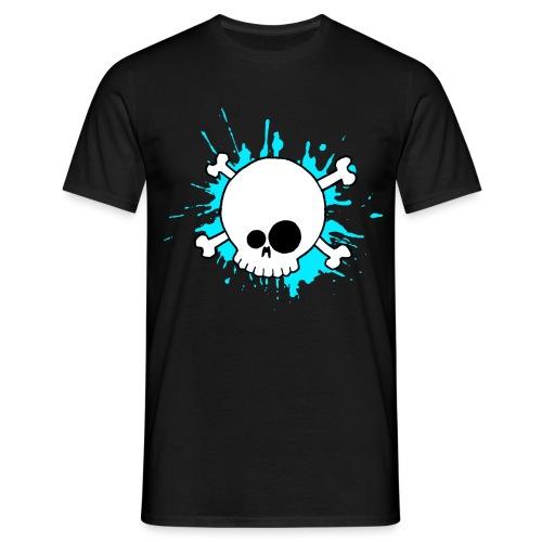 SKULL SPLASH BLEU - T-shirt Homme