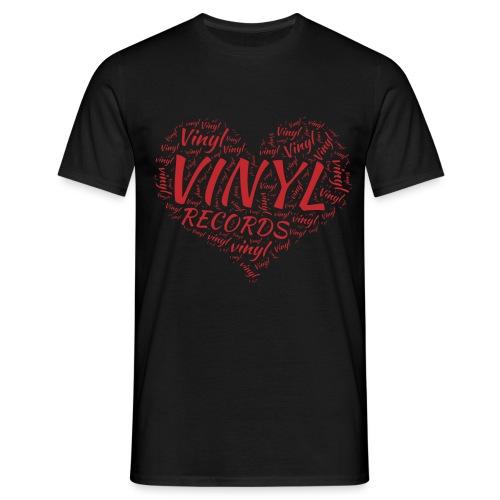 I Love Vinyl Records Heart - Men's T-Shirt