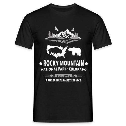 Rocky Mountain Nationalpark Berg Bison Grizzly Bär - Men's T-Shirt