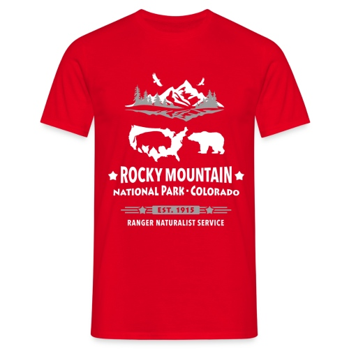 Rocky Mountain Nationalpark Berg Bison Grizzly Bär - Men's T-Shirt