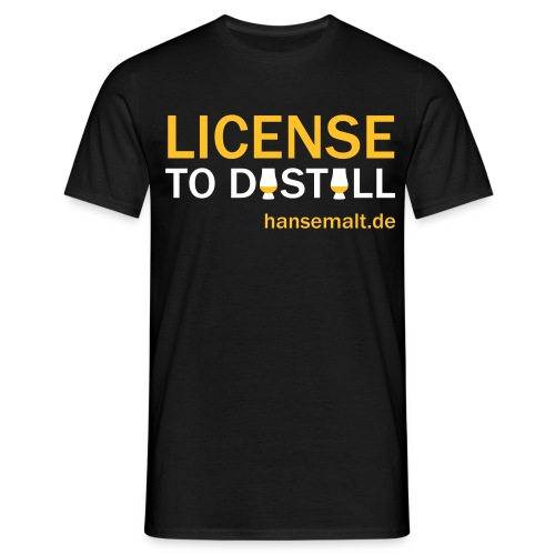 license to distill mit - Männer T-Shirt