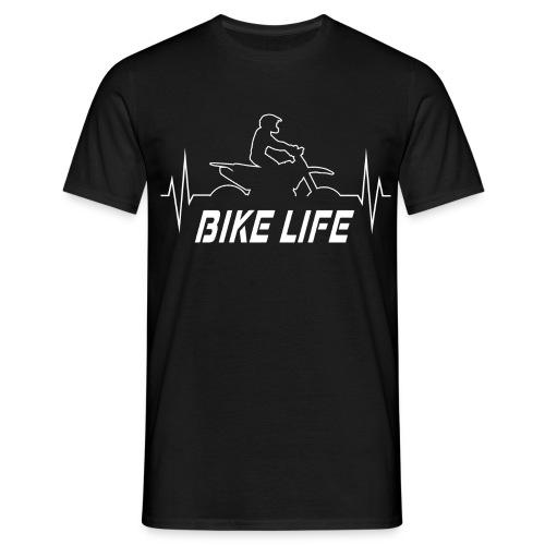 Motorrad Geschenkidee - Supermoto Herzfrequenz EKG - Männer T-Shirt