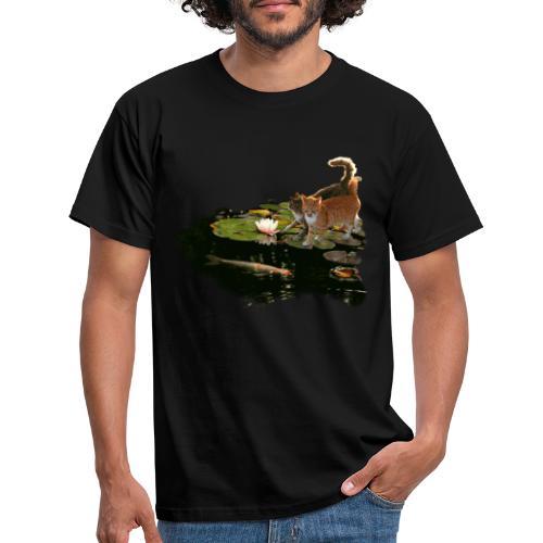 Cats meet Koi - Men's T-Shirt