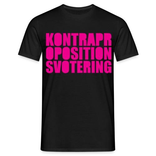 Kontrapropositionsvotering MAGENTA - T-shirt herr