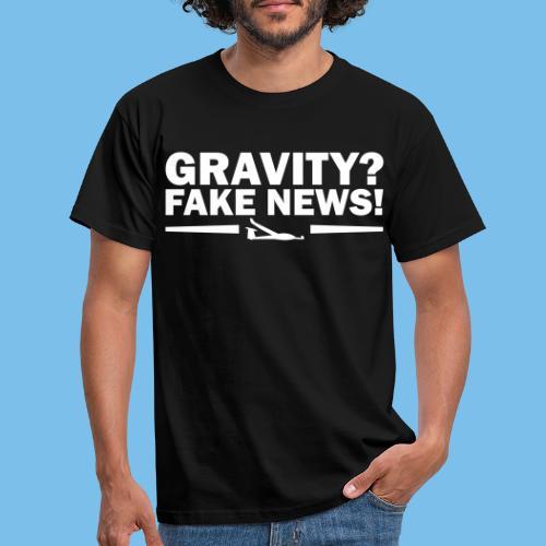 Schwerkraft Segelflieger Geschenk lustig - Männer T-Shirt
