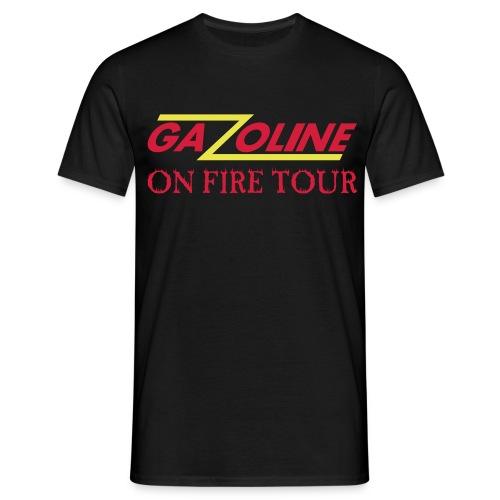gazoline on fire tour - Mannen T-shirt