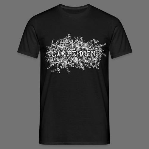 carpe diem (valkoinen) - Miesten t-paita