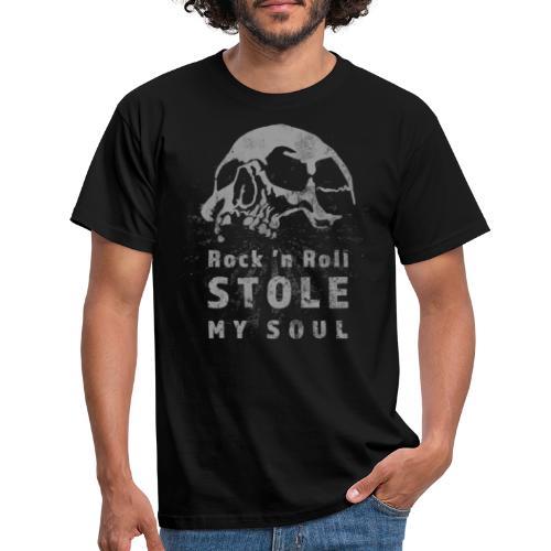 Rock n roll stole my soul - T-shirt herr