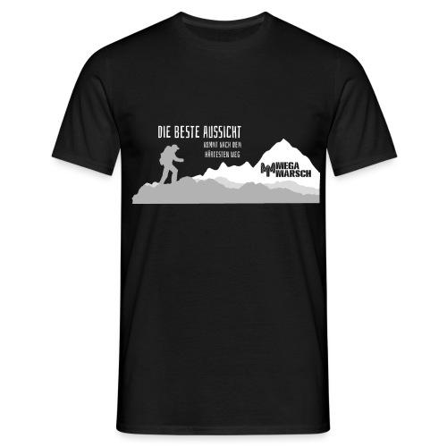 Megamarsch Die beste Aussicht (weiß) - Männer T-Shirt