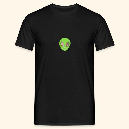 Alien hoofd 1 - Mannen T-shirt
