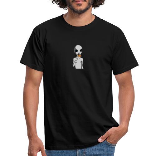 Alien con pizza - Camiseta hombre