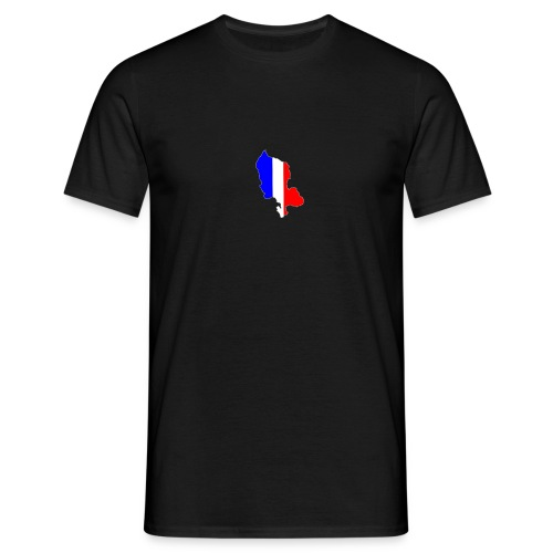 Carte Territoire de Belfort bleu blanc rouge - T-shirt Homme